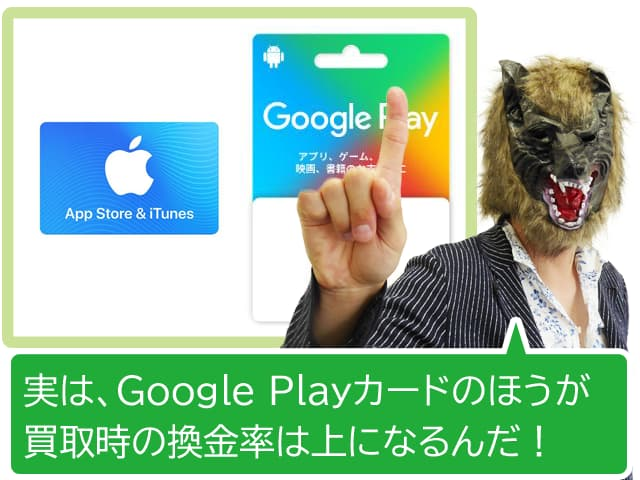 iTunesとGooglePlayギフト